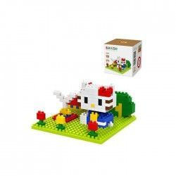 Hello Kitty Fountain - Loz 9405. Kit de construccion miniaturizada. 190 piezas.