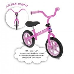 Chicco First Bike Bicicleta sin pedales con sillín regulable, color rosa, 2-5 años