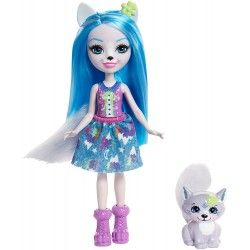 Enchantimals Muñeca Winsley Wolf, Multicolor