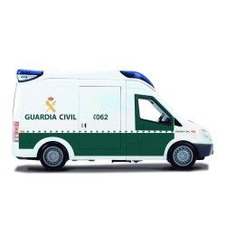 Dickie Guardia Civil-Furgón con luz y Sonido 34cm, Color Blanco/Verde