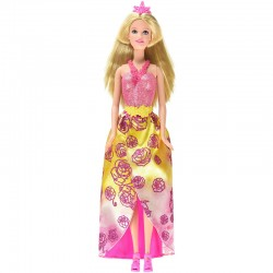 Barbie - Muñeca combi princesa, color rosa (Mattel CFF25)