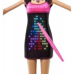 Mattel - BARBIE DOLL DISEÑADORA DE MODA con LUCES LED - VESTIDO DIGITAL